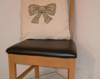 Turquoise Ribbon cushion cover, kitsch ribbon cushio cover, shabbytique wears,contemporary style rooms