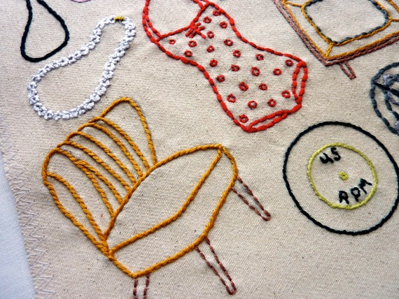 Vintage shop hand embroidery pattern classic series