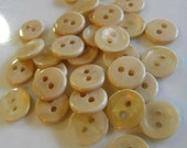 20 Cream Shiny 2 Hole Round Buttons Size 7/16""