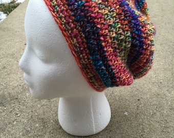 Slouchy beanie - hipster hat- hipster beanie -slouchy crochet hat