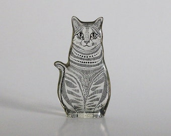 Abraham Palatnik Lucite Cat Figurine - 60s