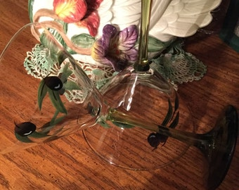 Olive theme martini glasses