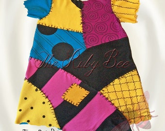 Sally Costume Child's Sally Stitches Rag Doll Dress Nightmare Before Christmas Inspired Made to Order