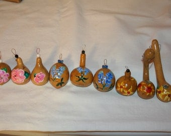 Flower Ornaments (set of three)