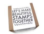 SALE DIY Stamp Carving Kit - Rubber Stamp Making - Hand Carving Handcarved Stamps by Creatiate