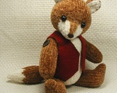 Collectible Hand Knit Toy Fox - Freddy by Jan