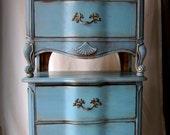 Vintage Turquoise Nightstands~Pair