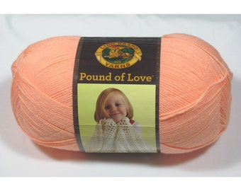 Lion Brand Pound of Love Yarn, Creamsicle, 16 oz