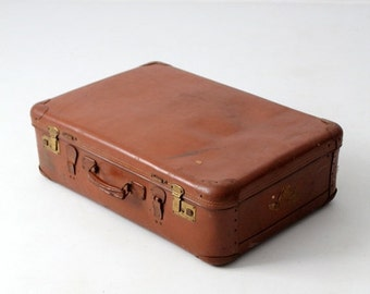 SALE vintage 30s Echt Vulkanfiber suitcase, German luggage