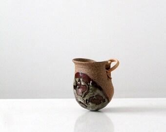 SALE studio pottery vase or feeder, vintage vessel