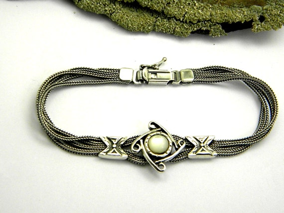 multi strand sterling silver bracelet silver by nikiforosnelly