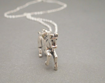 Sale - Horse Silver Jewelry - Birthday Gift -  Horse Necklace - Girls Jewelry - Equestrian Jewelry