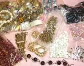 Destash Jewelry Lot 2.5 pounds of Jewelry,Beads,Findings