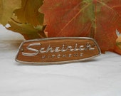 Louisville Kentucky Scheirich Kitchens Advertising Vintage cabinet plaque manufacture's tag maker's mark cabinet signature appliance tag