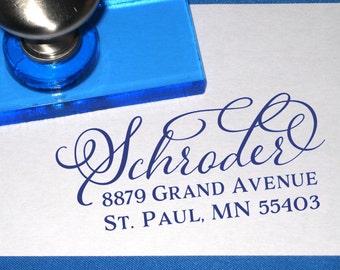 Custom Calligraphy Name Return Address Stamp, Wedding Stamp, Self Inking Address Stamp, Mother's Day Gift Idea, Calligraphy Address