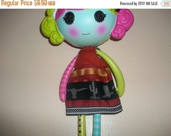 Lalaloopsy Doll Dress handmade browns and blacks with western items