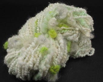 Handspun art yarn Angora flowers, 4.7 oz, 65 yards