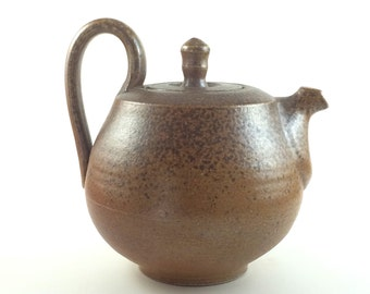 Wood Fired Handmade Stoneware Pottery Teapot  (YCP635)