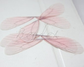 2 Pieces / Fabric / Artificial Butterfly Wings / Charm / Earring Findings
