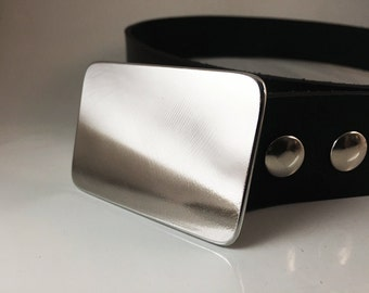 Stainless Steel Belt Buckle - High Polished Finish