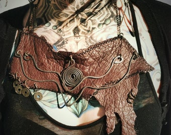 Sorcerers Apocalyptic Leather Collar