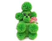 RESERVED FOR ANGEL Spring Green Toilet Tissue Poodle Cozy, Toilet Paper Roll Poodle Cozy, Kitsch Crochet Poodle Cozy, Pom Pom Poodle Decor