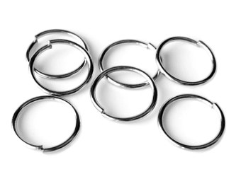 14mm Jump Rings : 100 pieces Antique Silver Open Jump Rings 14mm x 1.2mm (18 Gauge) -- Lead, Nickel, & Cadmium free  14/1.2