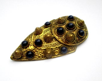 Antique Art Deco Czech Dress Clip // Egyptian Revival Brooch Pin