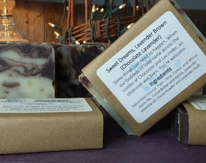 Sweet Dreams, Lavender Brown (Chocolate Lavender Soap)
