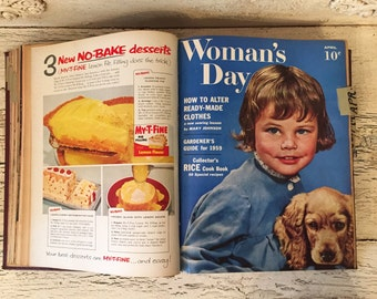 Woman's Day Magazine - 1959 - 12 Bound Copies for the Year - Great Vintage Advertising
