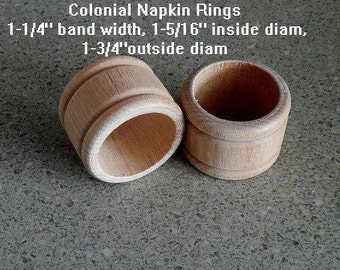 80 NAPKIN HOLDER Round Wood Rings UNFINISHED Paint/Stain/Stamp/Woodburn 1-/34 Diameter x 1-1/4 Wide (MT2)