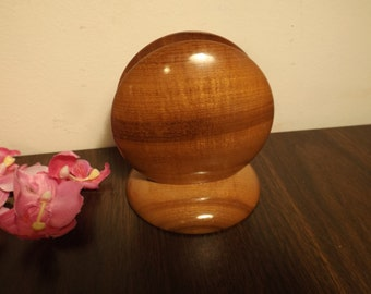 "Sale Oregon Myrtle wood napkin or letter holder  .4 1/4""  Height, 4 W. New Old stock. Never used.Gift."