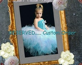 Custom Order Gothic Black Tulle Purple Lace Tutu with Matching OTT Hair Accessory for Girls, Custom Halloween Costume, Gothic Costume Child