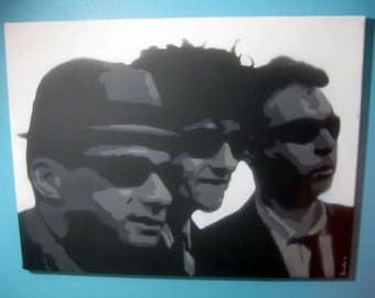 Beastie Boys Original Multi-Layer Stencil Art Work by Beau Pope Popes with Paint