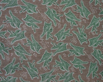 "Vintage Fabric, 1960's neat Print, 3 Yards, 60"" Wide, Poly/Cotton Blend"