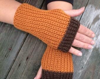 Fingerless gloves for men, Hand Warmers, Fingerless Gloves, Knit Texting Gloves, Knit Gloves,  Fingerless Mittens