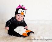 Baby Crochet Pattern - Penguin Hat and Blanket Set Crochet Pattern - Animal Hat Pattern - Halloween Costume Pattern - Newborn Photo Prop