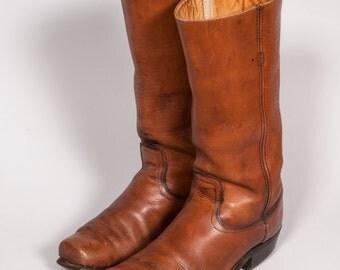 Tan Work Boots Men's Size 9 .5