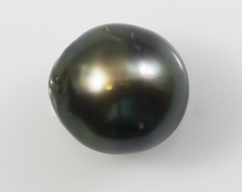 Tahitian Pearl Loose Large Oval Black Pearl 14.7x13.7mm