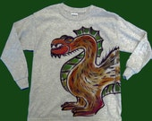 Wrap-around beast dino critter Long-sleeved T-shirt or Sweatshirt