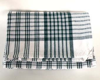 Green White Checkered Tablecloth