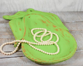 Shabby chic Wood tray, rustic home decor, jewelry tray, shabby chic distressed green