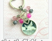 Custom Pet Photo, Memory Photo Necklace Or Keychain With Cat Face And Heart Charm, Animal, Dog, Cat