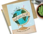 So glad I'm on this adventure with you Anniversary greetings card