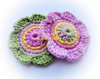 Set of 2 Crochet Flowers