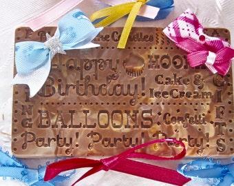 Birthday Chocolate Candy Bar