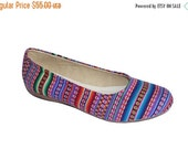 LAST SALE 20% OFF Peruvian Textiles Flat Ballerina Shoes, Popular Ethnic Style Ballet Flats with Tpr Soft Soles - Hany