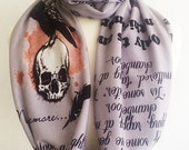 Edgar Allan Poe Scarves, The Raven, Literature Scarves By Rooby Lane, Literature gift