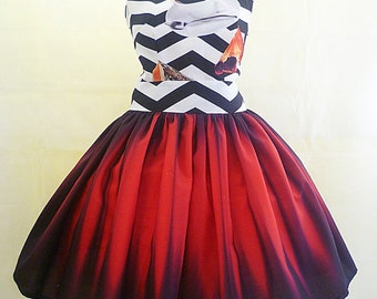 Twin Peaks Fan Art, The black Lodge  Special Occassion Dress, Party Dress, Comic con Costume, Prom Dress