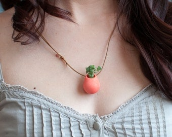 A Wearable Planter, No. 1, in Coral